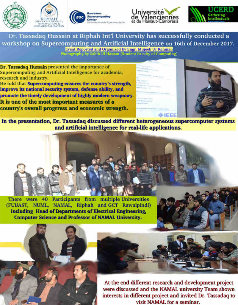 Workshop on Supercomputing and Artificial Intelligence